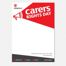 Carers Rights Day poster